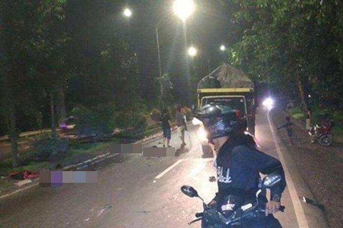 Telah terjadi kecelakaan di Jalan Soekarno Hatta Palembang, Senin (11/2/2019) tengah malam sekitar pukul 00.00 WIB.