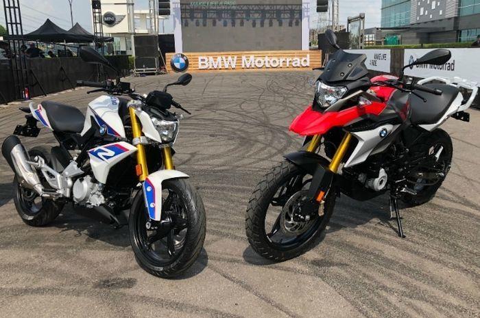 Ilustrasi BMW G310R dan G310GS.