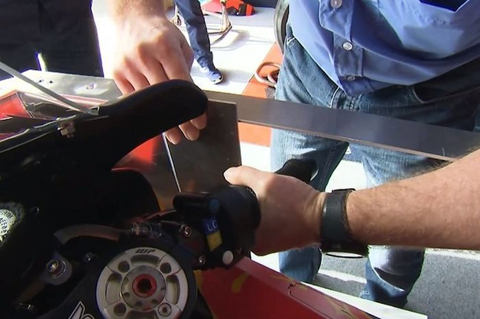 Pengukuran aero fairing motor MotoGP.