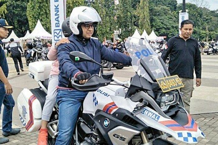 Gubernur DKI Jakarta Anies Baswedan di Touring Lintas Milenial Road Safety Festival 2019