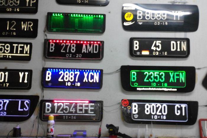 Plat Nomor Kendaraan (ilustrasi)