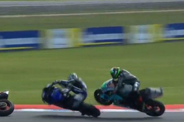 Maverick Vinales tabrak Franco Morbidelli di MotoGP Argentina, padahal sudah masuk lap terakhir.