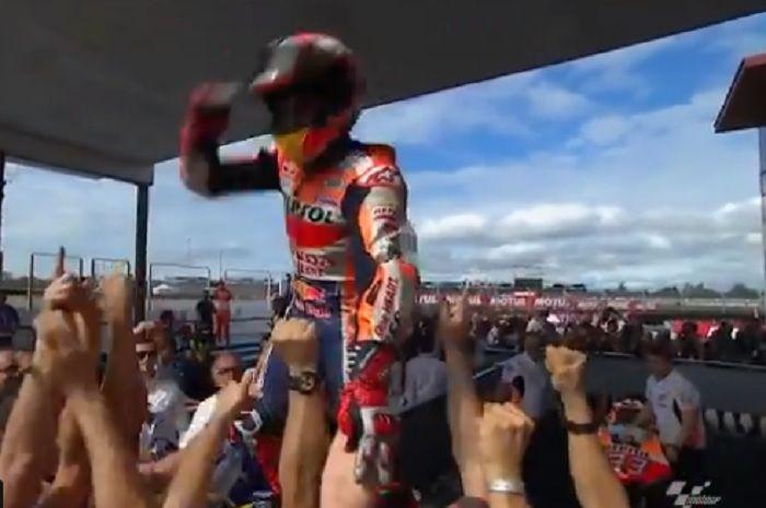 Marc Marquez juara MotoGP Argentina 2019.