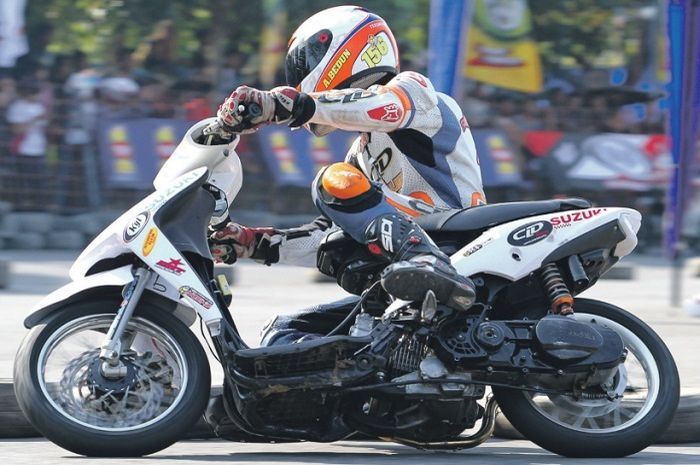 •Satu-satunya Suzuki di event Matic race rangka almu baru di kelas bergengsi
