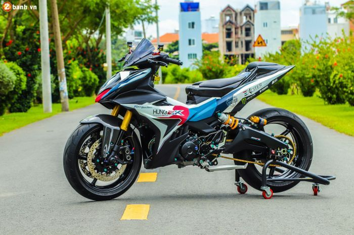 Modifikasi Yamaha MX King bergaya sporty.