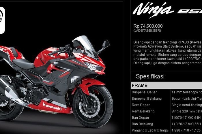 New Kawasaki Ninja 250 dilaunching November 2018.