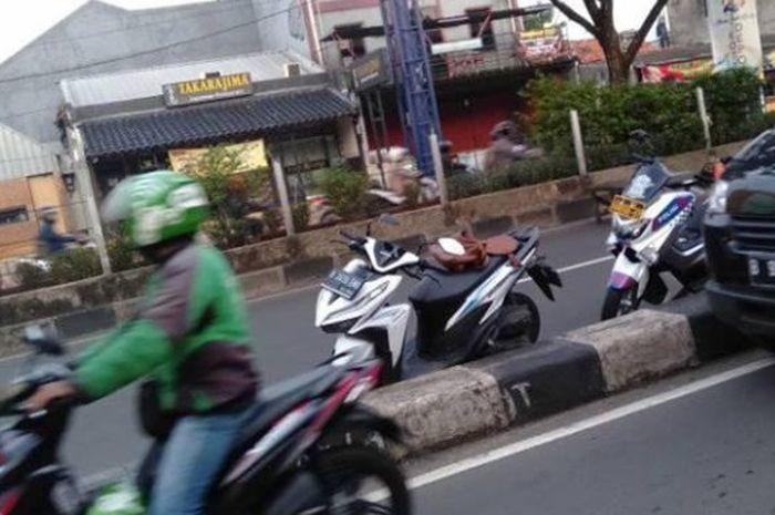 Motor Honda Vario milik korban kecelakaan di Depok, Jawa Barat