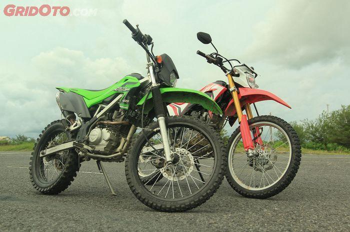 Kawasaki KLX 150 dan Honda CRF150L