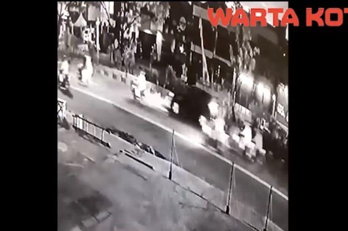 Video detik-detik terjadinya kecelakaan di Depok