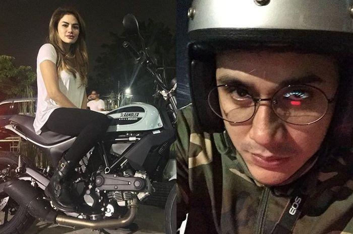 Nikita Mirzani dan Vicky Nitinegoro dikenal penyuka motor