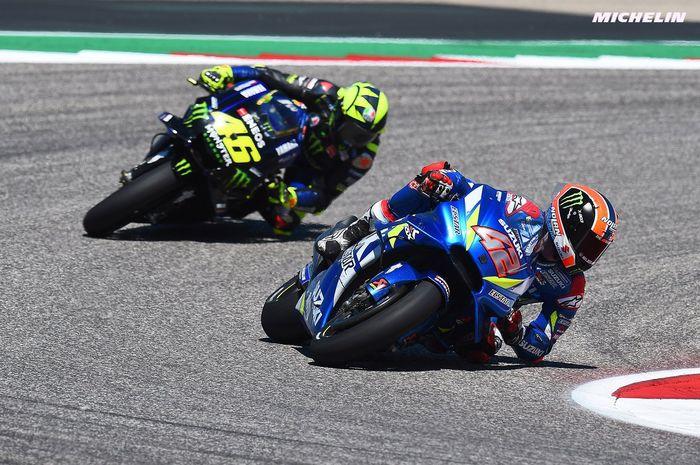 Alex Rins kalahkan Valentino Rossi cetak kemenangan di MotoGP Amerika Serikat 2019