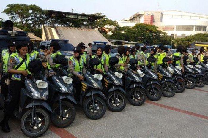 Pasukan bermotor siap menjaga keamanan warga pasca pemilu 2019