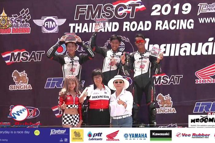 Dheyo Wahyu berhasil menjadi yang tercepat di Thailand Talent Cup (TTC).