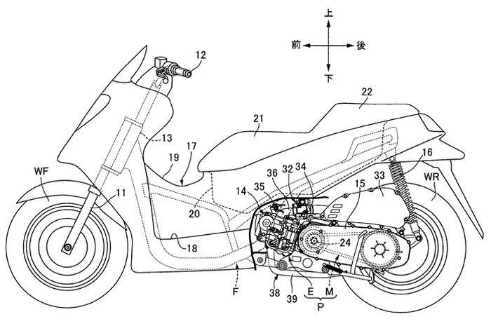 Gambar paten skuter Honda pakai VTEC