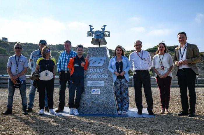 Seremoni penobatan tikungan 6 sirkuit Jerez ganti nama jadi Curva Dani Pedrosa, (3/5/2019)