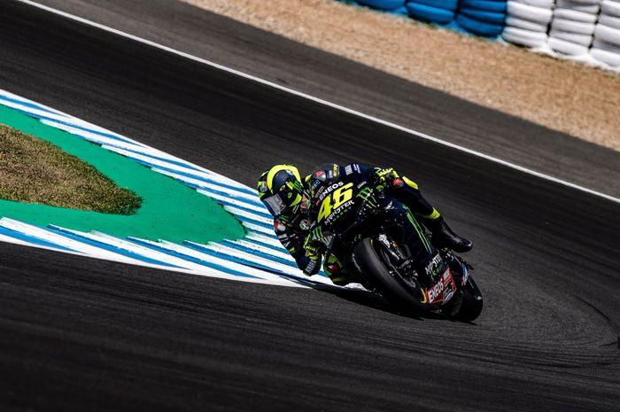 Valentino Rossi gagal lolos ke Q2 terungkap gara-gara di lap terakhir motornya tergelincir di tikungan 5 sirkuit Jerez