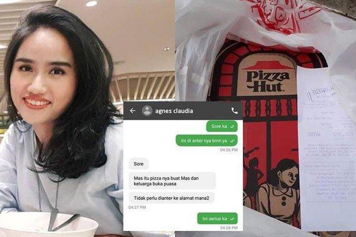 Agnes Claudia, wanita cantik beragama katolik yang membelikan pizza untuk berbuka puasa driver ojol