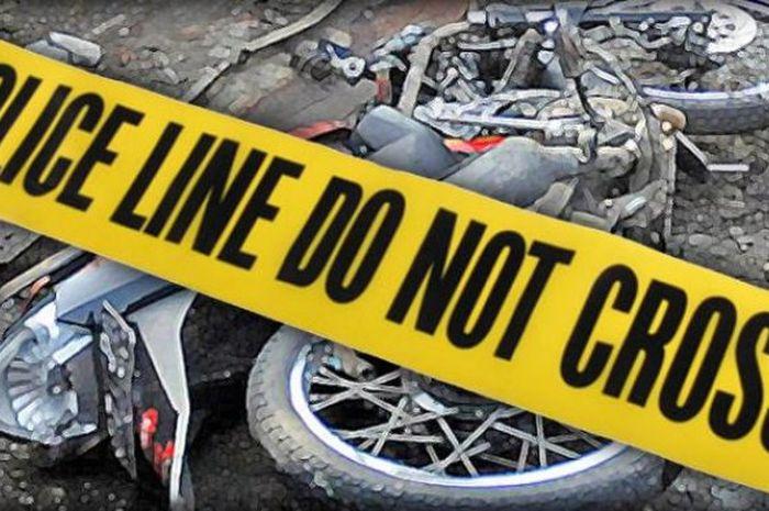Foto ilustrasi kecelakaan motor