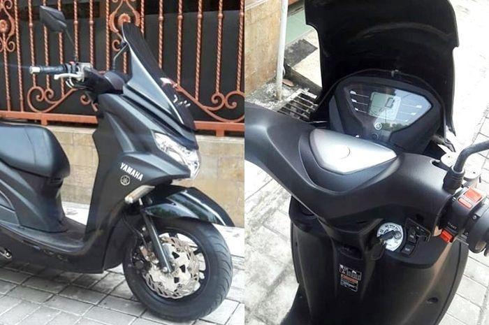 Yamaha FreeGo dengan setang Lexi dan windshield