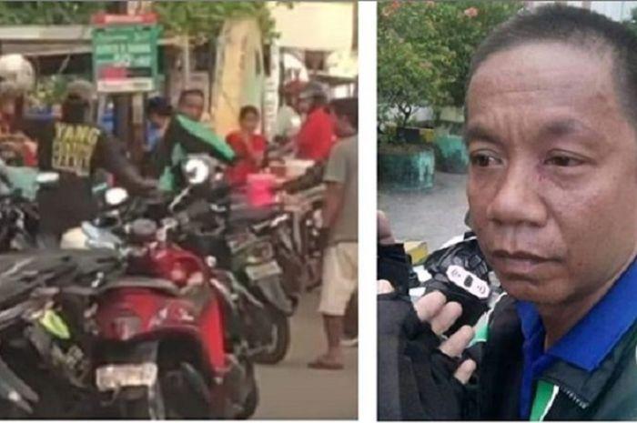 Driver ojol bernama Irfan dikeroyok tukang parkir liar di Makassar, Sulawesi Selatan