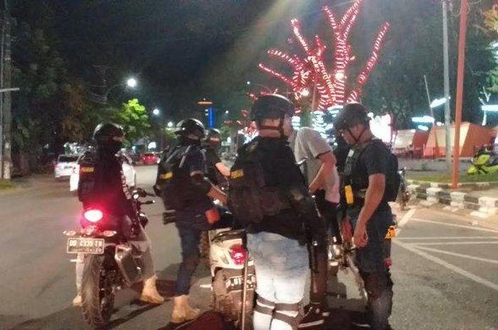 Tim Penikam Satuan Sabhara Polrestabes Makassar Incar pengguna knalpot brong