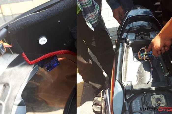 Helm anti begal yang diciptakan oleh siswa SMKN 1 Purworejo tahun lalu