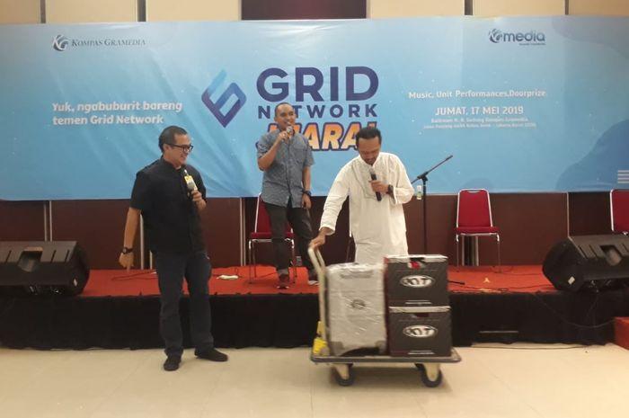 Penampilan Divisi Otomotif Grid Network dengan acara gams berhadiah 3,5 juta. (Juamt (17/5/2019)