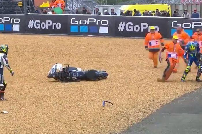 Karel Abraham dan Joan Mir terjatuh sebelum balapan dimulai