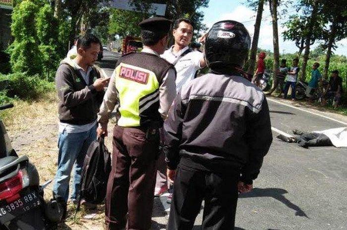 Pengendara Honda Vario diduga menjadi korban tabrak lari