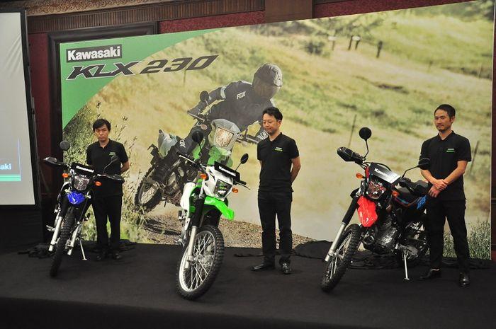 Kawasaki resmikan KLX 230 di Kemayoran, Jakarta Pusat (22/5/2019)