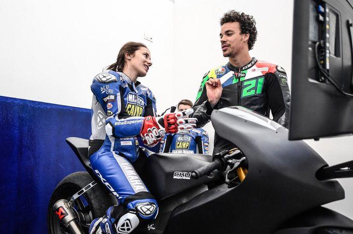 Franco Morbidelli (kanan) jeda MotoGP bukan liburan malah jadi mentor Master Camp VR46 angkatan VII