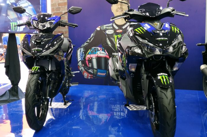 Yamaha MX King 150 dan Aerox 155 VVA dengan Livery Monster Energy Yamaha