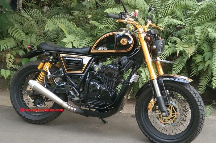 Yamaha Scorpio usung konsep Scrambler Oriental.