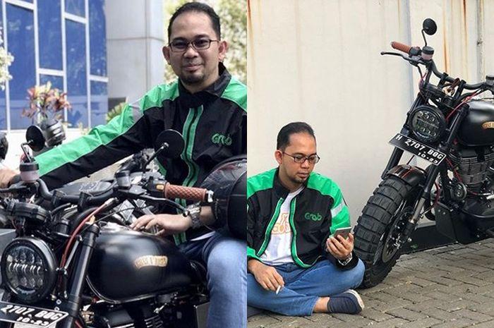 Rektor gaul Pulung Nurtantio Andono bergaya ala driver ojek online