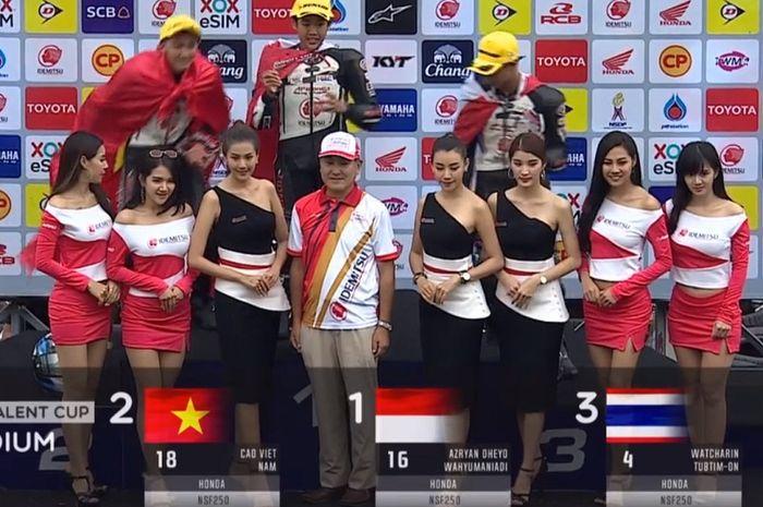 Dheyo Wahyu Juara Thailand Talent Cup 2019