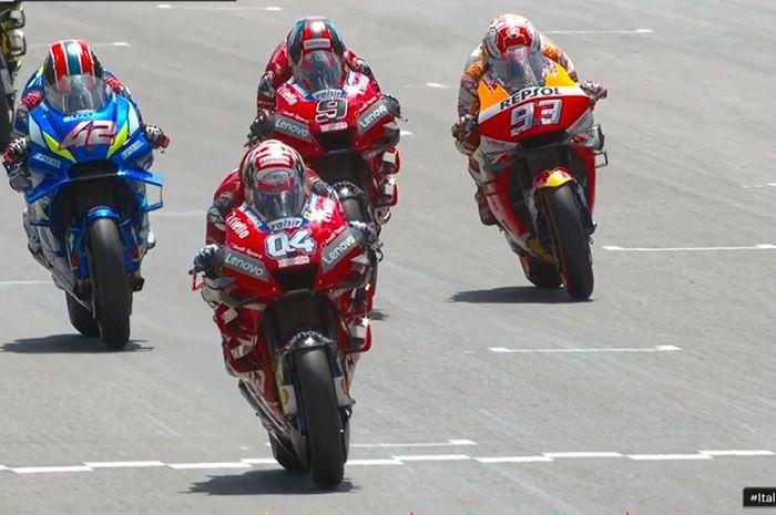 MotoGP Italia 2019 berlangsung ketat, Marc Marquez masih pimpin klasemen