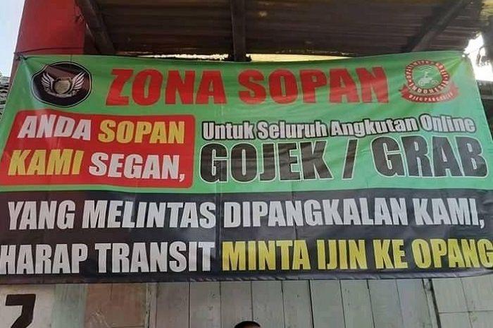 Ojol harus ijin melintas di kawasan Bandung oleh para pengojek pangkalan (opang).