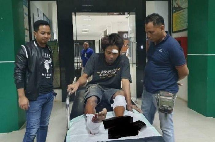 Suryadi otak pelaku curanmor di Tuban ditembak polisi kedua kakinya.