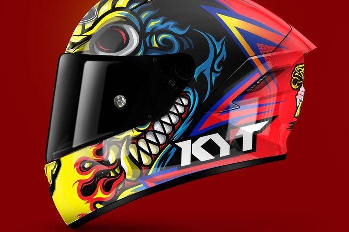 Ahmad Yudhistira akan pakai grafis helm baru KYT NX-Race di ronde 4 ASB1000 ARRC Jepang, akhir Juni nanti