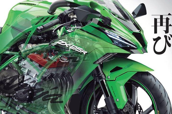 Renderan Young Machine Kawasaki Ninja 250R 4 Silinder