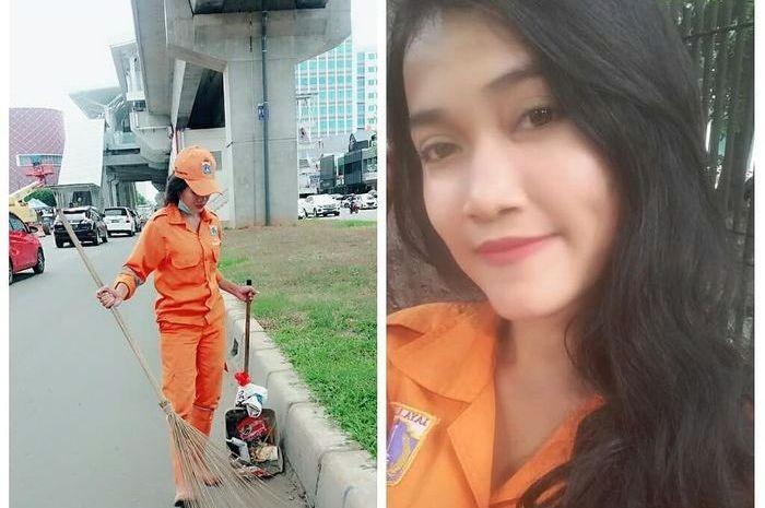 Sellha Purba, cewek cantik petugas kebersihan Jakarta atau pasukan oranye