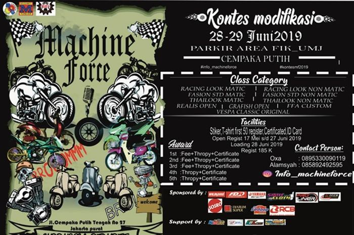 Machine Force 2019 bakal digelar akhir bulan Juli 2019