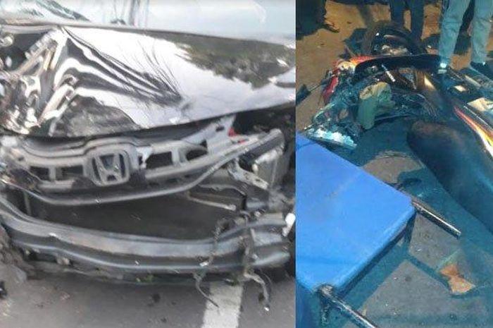 Kecelakaan terjadi akibat sopir mobil yang mabuk
