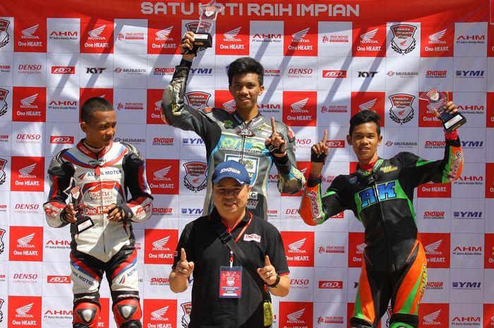 Hasil HDC3 Race 1, M.Noor sukses juara disusul Azi Firdaus (2) dan M Rayendra Akbari (3).