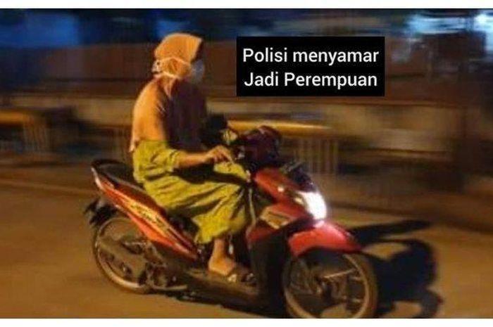 Polisi menyamar sebagai emak-emak untuk menangkap begal