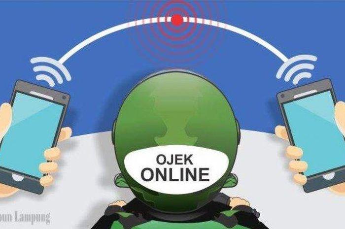 Ilustrasi order  melalui ojek online