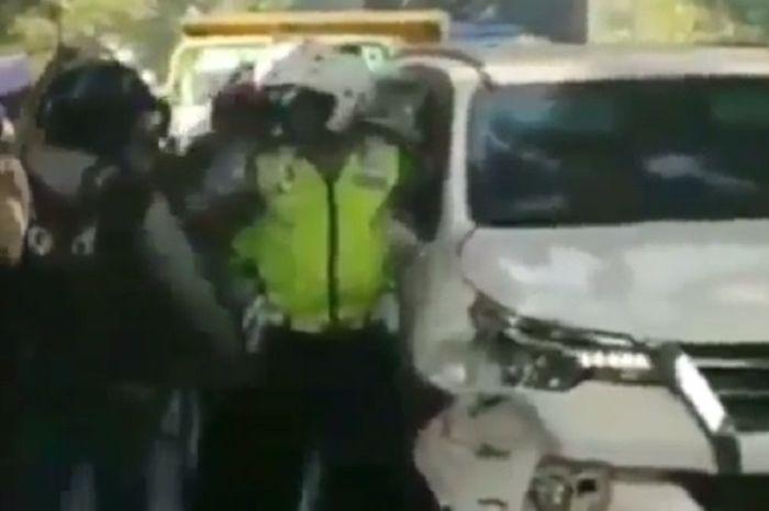 Polisi mengejar pelaku tabrak lari