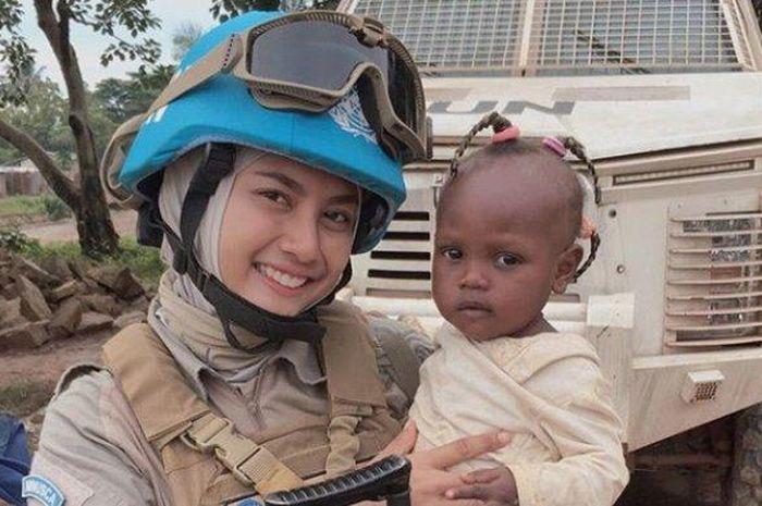 Briptu Hikma Nur Syafa atau Ima yang dikirim Polri ke Afrika bareng Peserikatan Bangsa-Bangsa (PBB) dalam misi kemanusiaan.