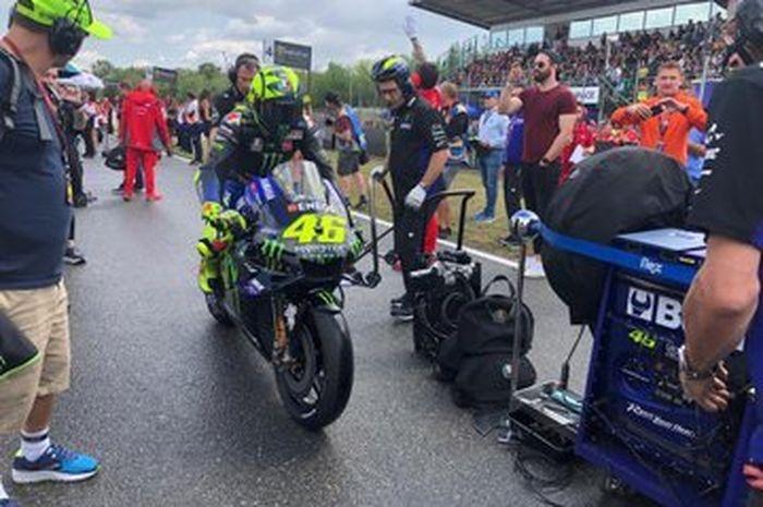 Valentino Rossi sebelum balap di  MotoGP Republik Ceska, (4/8/2019)