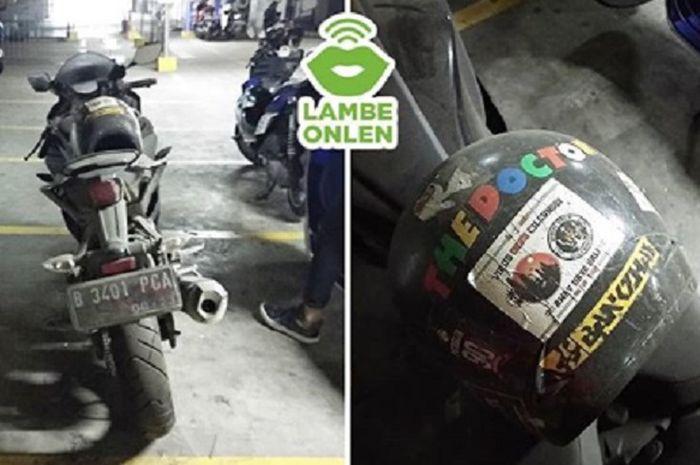 Motor Yamaha R15 misterius di parkiran Detos